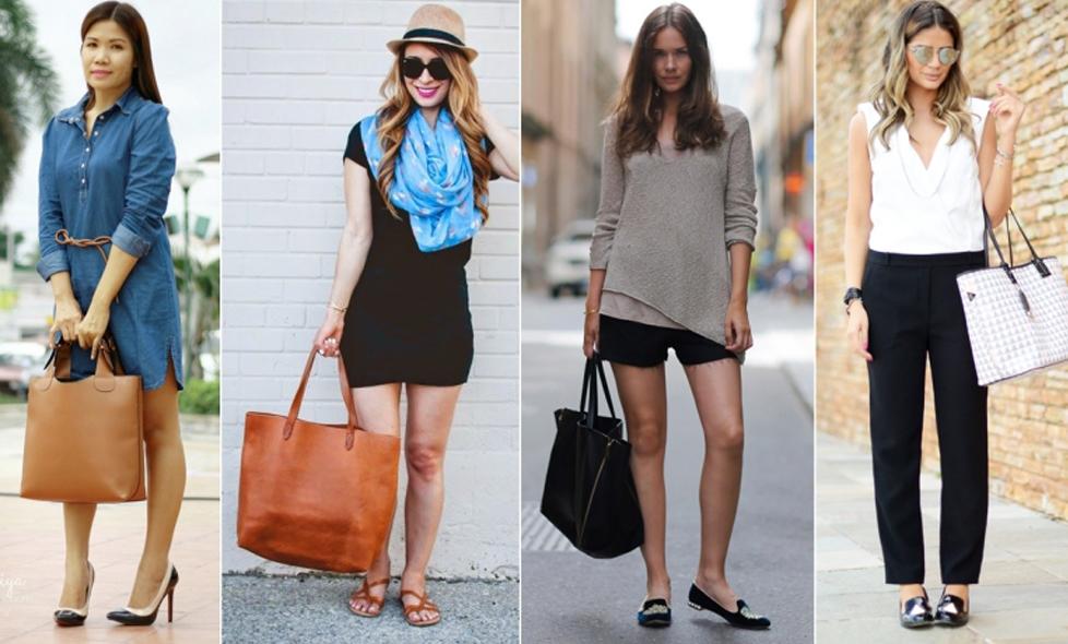 Como usar bolsas grandes e manter o look!